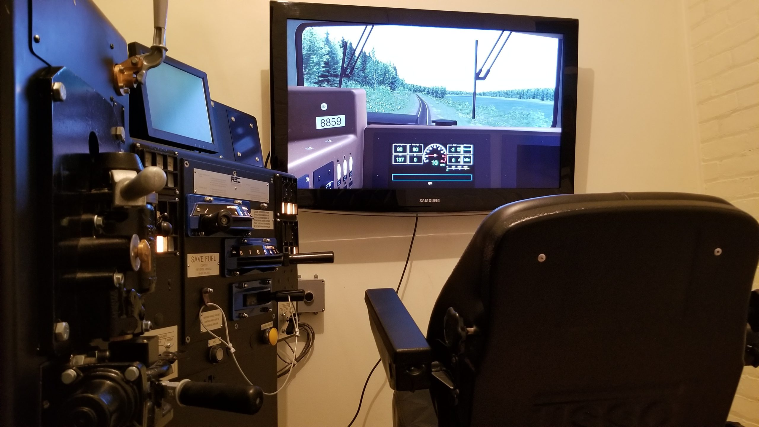 TRAIN SIMULATOR AT HERITAGE CENTRE